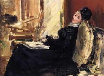 Young woman with a book Eduard Manet Oil Paintings