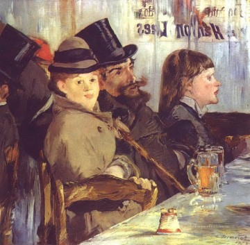 At the Cafe Eduard Manet Oil Paintings