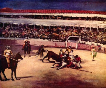 Bull fighting scene Eduard Manet Oil Paintings