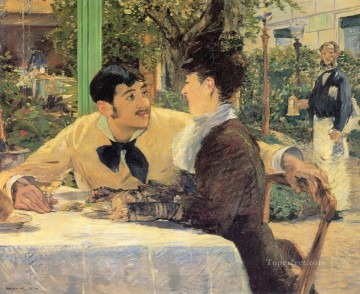 Chez Le Pere Lathuile Realism Impressionism Edouard Manet Oil Paintings