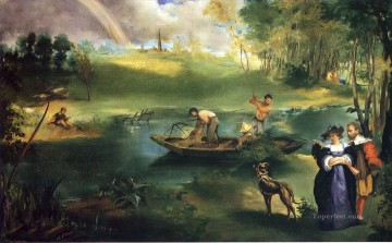 Edouard Manet Painting - Fishing Eduard Manet