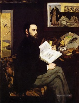 Portrait of Emile Zola Realism Impressionism Edouard Manet Oil Paintings