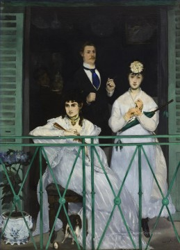 Edouard Oil Painting - The Balcony Realism Impressionism Edouard Manet