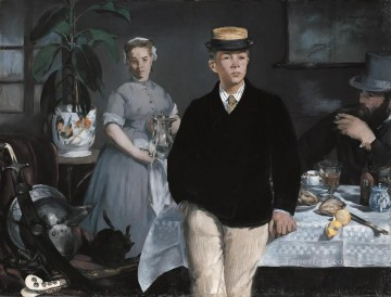 pres Painting - The Luncheon in the Studio Realism Impressionism Edouard Manet