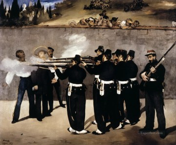 AX Painting - The Execution of the Emperor Maximilian of Mexico Eduard Manet