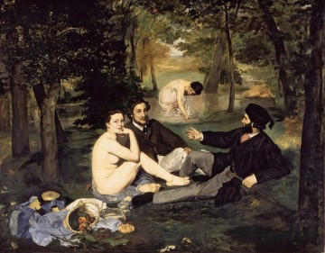 The Luncheon on the Grass Eduard Manet Oil Paintings