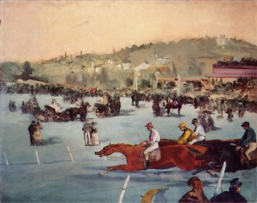 horce races racing Painting - The Races in the Bois de Boulogne Eduard Manet