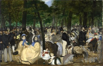 Music in the Tuileries Gard Eduard Manet Oil Paintings