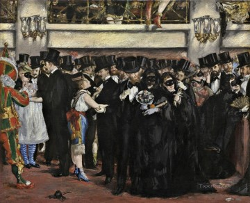 Impressionism Art Painting - Masked Ball at the Opera Realism Impressionism Edouard Manet