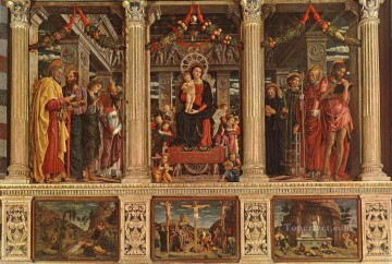 Altarpiece Renaissance painter Andrea Mantegna Oil Paintings