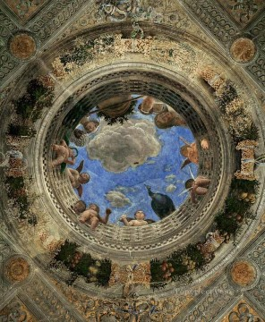Ceiling Oculus Renaissance painter Andrea Mantegna Oil Paintings