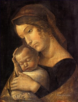 Andrea Canvas - Madonna with child Renaissance painter Andrea Mantegna