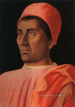 Andrea Canvas - Portrait of the Protonary Carlo de Medici Renaissance painter Andrea Mantegna