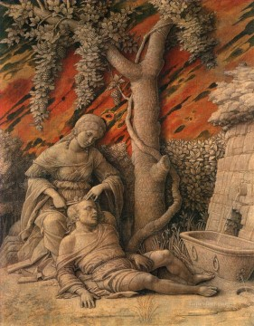 Andrea Canvas - Samson and Delilah Renaissance painter Andrea Mantegna