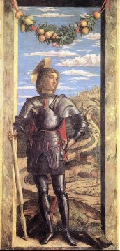 Andrea Canvas - St George Renaissance painter Andrea Mantegna