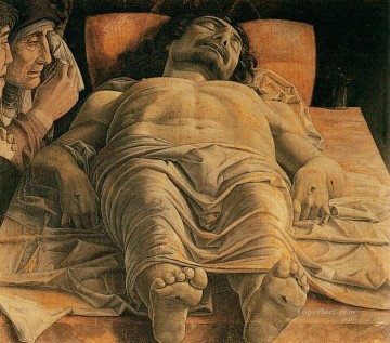 Andrea Canvas - The dead Christ Renaissance painter Andrea Mantegna