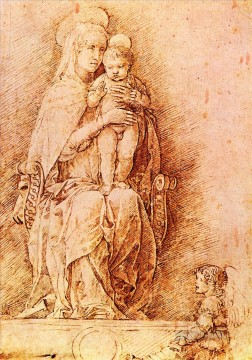 Andrea Canvas - Madonna and child Renaissance painter Andrea Mantegna