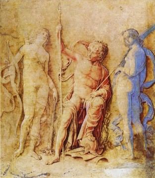 Andrea Canvas - Mars and Venus Renaissance painter Andrea Mantegna