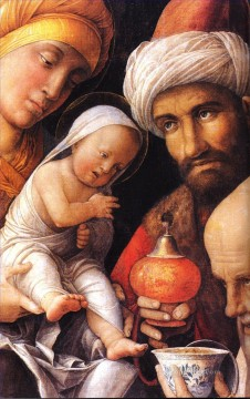 dt1 Works - The Adoration of the Magi dt1 Renaissance painter Andrea Mantegna