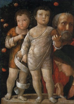 Family Painting - The holy family with St John Renaissance painter Andrea Mantegna