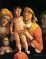 The holy family with saints Elizabeth and the infant John the Baptist Renaissance painter Andrea Mantegna