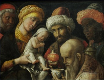 Adoration Art - The Adoration of the Magi Renaissance painter Andrea Mantegna