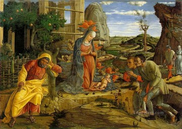 Adoration Art - Adoration of the Shepherds Renaissance painter Andrea Mantegna