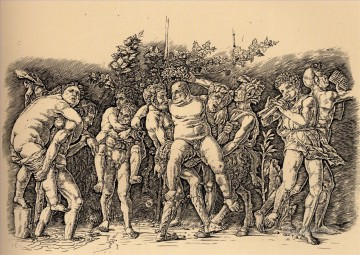 Andrea Canvas - Bacchanal with Silenus Renaissance painter Andrea Mantegna