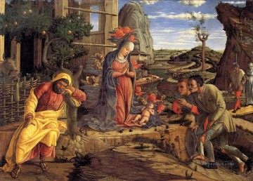 Adoration Art - The Adoration of the Shepherds Renaissance painter Andrea Mantegna