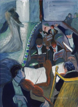 Artworks by 350 Famous Artists Painting - IN THE THEATRE I Marianne von Werefkin