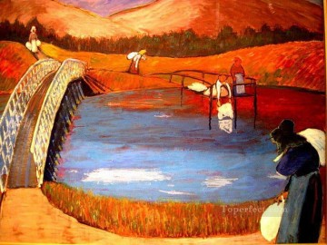 Artworks by 350 Famous Artists Painting - bridge Marianne von Werefkin