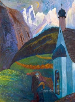 Artworks by 350 Famous Artists Painting - church Marianne von Werefkin