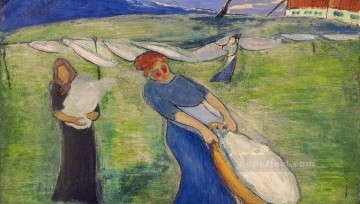 women Painting - laundry women Marianne von Werefkin