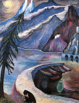 Artworks by 350 Famous Artists Painting - mountain Marianne von Werefkin