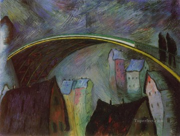 Marianne von Werefkin Painting - on bridge Marianne von Werefkin