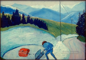 Artworks by 350 Famous Artists Painting - outside Marianne von Werefkin
