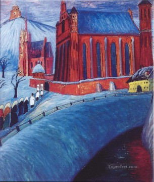Artworks by 350 Famous Artists Painting - red house Marianne von Werefkin
