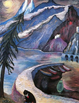 Artworks by 350 Famous Artists Painting - scenery mountain Marianne von Werefkin