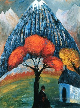 Artworks by 350 Famous Artists Painting - tree Marianne von Werefkin