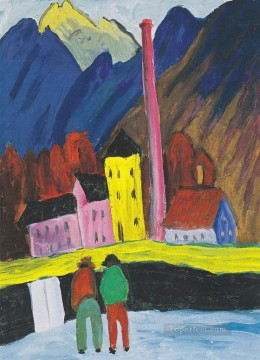 Artworks by 350 Famous Artists Painting - village Marianne von Werefkin