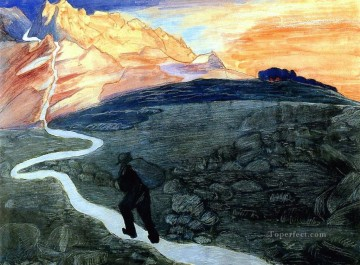 Artworks by 350 Famous Artists Painting - walking Marianne von Werefkin