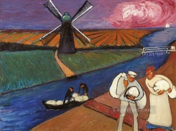 Artworks by 350 Famous Artists Painting - windmill Marianne von Werefkin