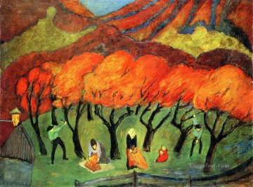 Artworks by 350 Famous Artists Painting - woods Marianne von Werefkin