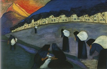 Artworks by 350 Famous Artists Painting - working Marianne von Werefkin