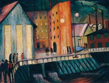 Marianne von Werefkin Painting - city views Marianne von Werefkin