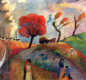 Artworks by 350 Famous Artists Painting - red trees Marianne von Werefkin