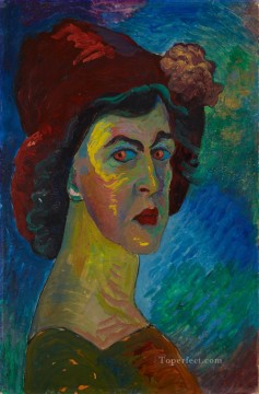 Artworks by 350 Famous Artists Painting - self portrait Marianne von Werefkin