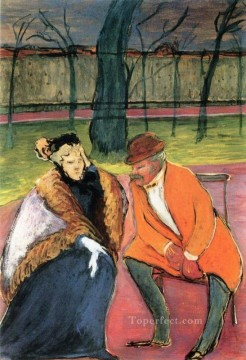 Artworks by 350 Famous Artists Painting - talking Marianne von Werefkin
