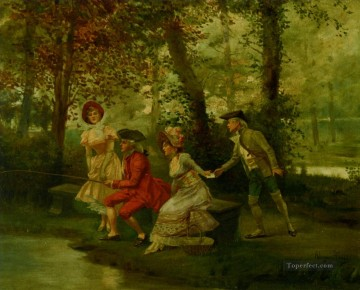 Spain Oil Painting - The Love Letter Spain Bourbon Dynasty Mariano Alonso Perez