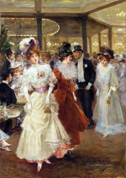The Party Spain Bourbon Dynasty Mariano Alonso Perez Oil Paintings